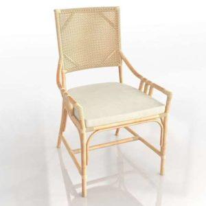 Silla de Comedor 3D Bambú y Ratán