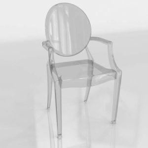 Modelo 3D Silla 3D Louis Ghost