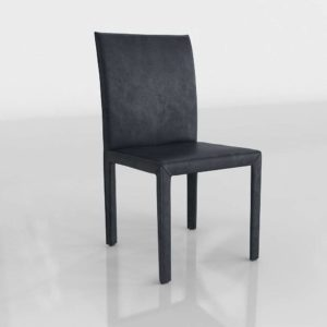 Viola Leather Dining Chair 3D Model