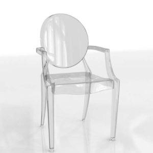 Modelo 3D Silla de Comedor 3D Louis Ghost