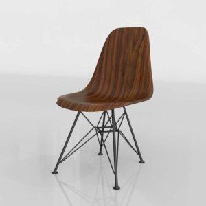 Walnut Eames Side Chair 3D Model