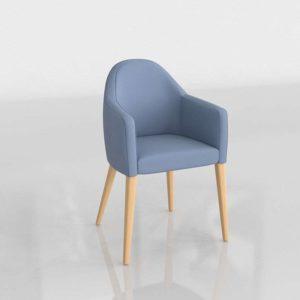 Modelo 3D Sillón Verónica Azul