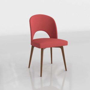 Modelo 3D Silla Lunaria Rojo