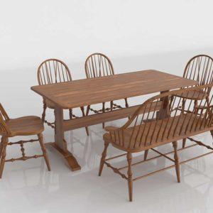 Vintage Dining Set Home Interior Design