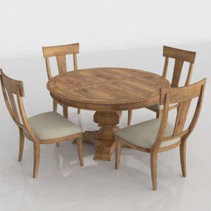 Wellington Hall Round Dining Table Set