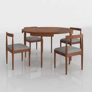 Toscano Dining Set 3D Model