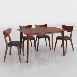 Sumner Dining Set 3D Model