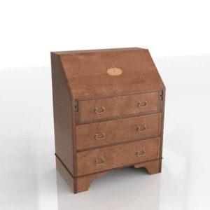 3D Vintage Chest Wood Old Furniture