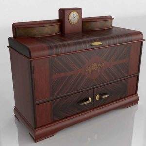 3D Classic Chest with Clock
