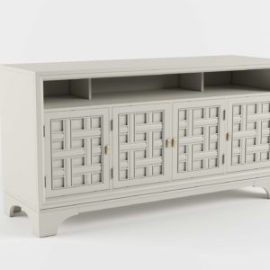 3D Media Accent Console with 4 Doors