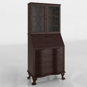 3D Classic Hutch with Drawers