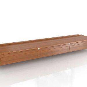 3D Storage Console Auction Wooden Design