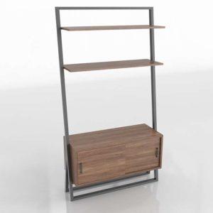 3D Shelf Console West Elm Ladder