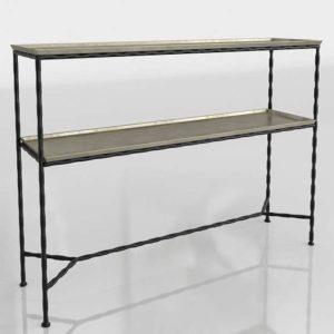 3D Metal Console Table CB2 Molten