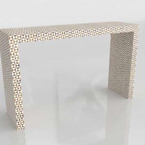 3D Console Table Сrate&Barrel Intarsia
