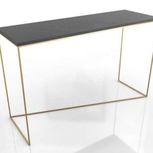 3D Console Table Brass Target Stepney