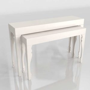 3D Console Table Set of 2 Beth