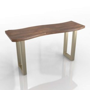 3D Console Table Living Spaces Oleander