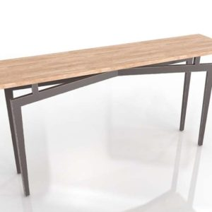 3D Console Table Shades of Light Iron and Wood