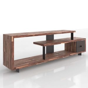 Mueble Consola 3D West Elm Staggered