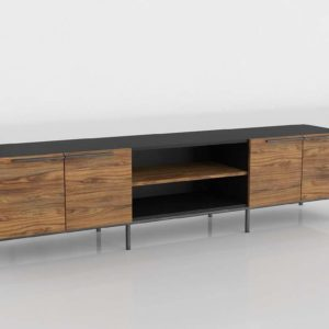3D Console Table Crate&Barrel Rigby Media