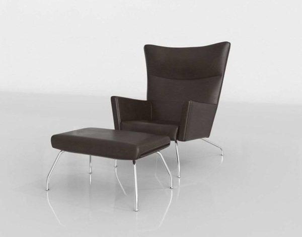 Silla 3D con Otomana Wayfair Lounge Chai