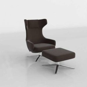3D Chair & Ottoman Design Within Reach Grand Repos