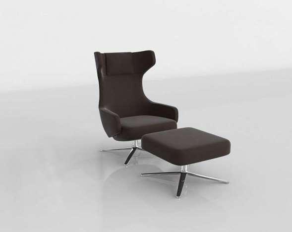 Silla 3D con Otomana Design Within Reach Grand Repos