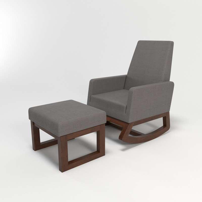 new products a6584 a170a Nola Rocking Chair Ottoman Wayfair