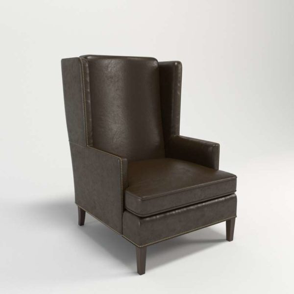 3D Wingback Chair Perigold Nathan