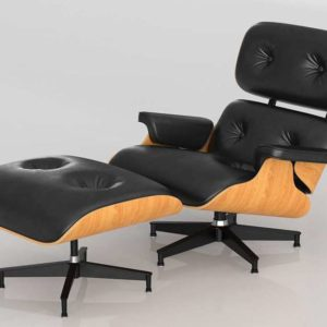 Silla y Otomana 3D Lounge Eames