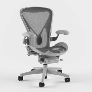 3D Office Chair Herman Miller Aeron Silver