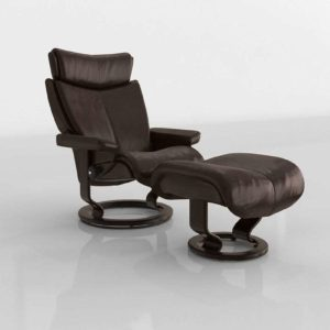 3D Recliner and Ottoman The Back Store