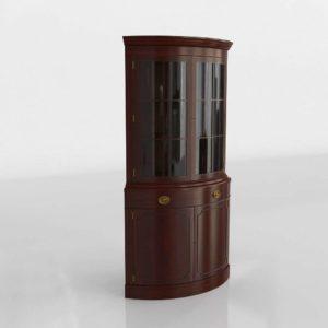Vintage Bow Corner Cabinet 3D Model