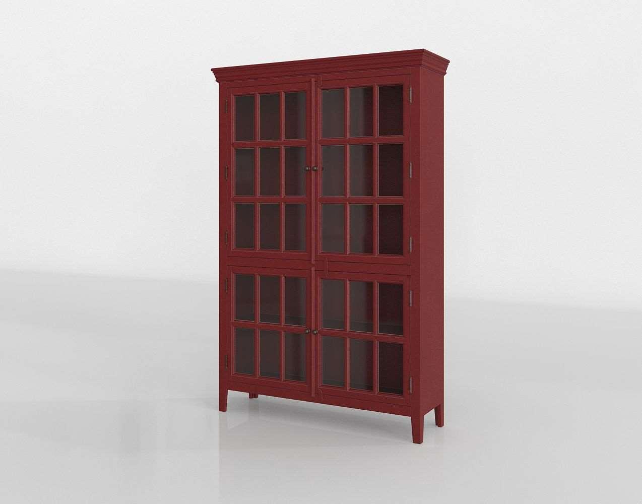 3d Rojo Tall Cabinet Interior Decor Glancing Eye