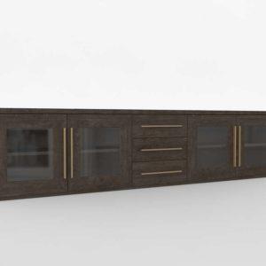 Modelo 3D Mueble Televisor 3D Eri Dark