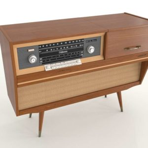 Vintage Radio Cabinet Home Decor