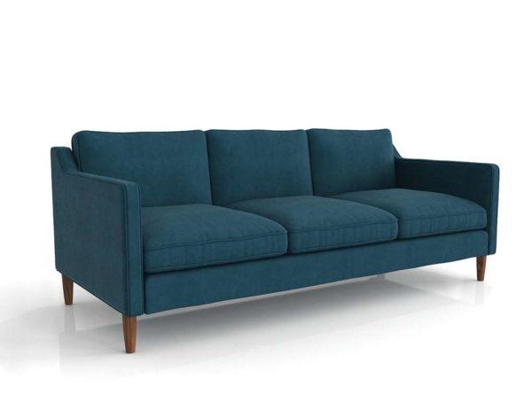 3D Sofa West Elm Hamilton Turquoise