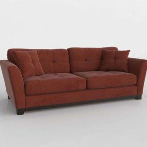 Sofá 3D Tapizado con Cojines