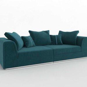 Sofá 3D Vintage con Cojines