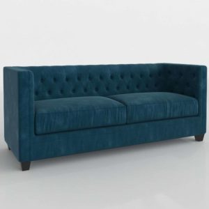 Sofá 3D Terciopelo Luxury Chester