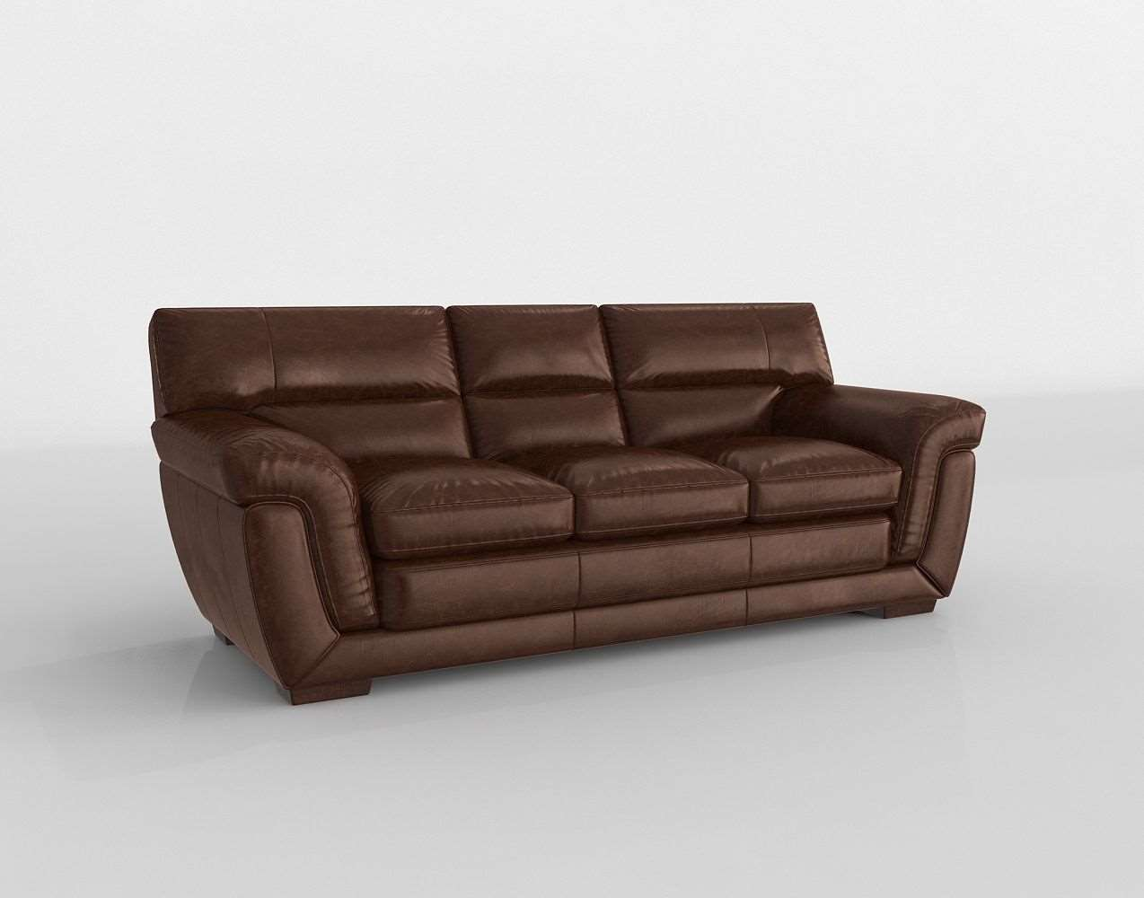 Stevens Leather Sofa Raymour And
