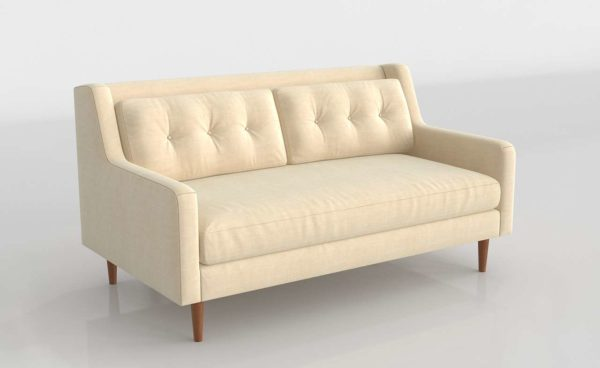 Crosby Mid-Century Loveseat West Elm