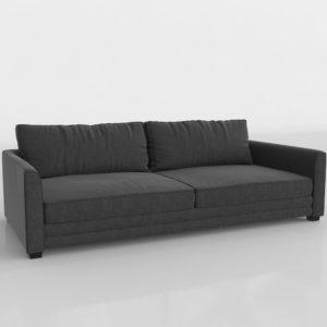 Sofá Cama 3D Negro de Tela