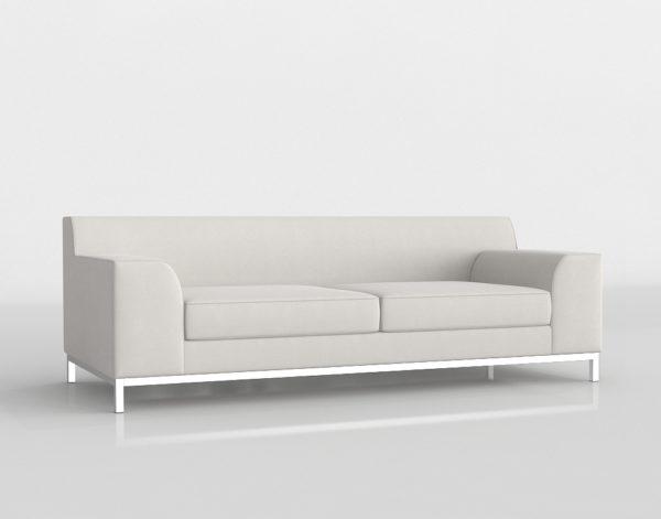 Sofá 3D Cover 3 Asientos