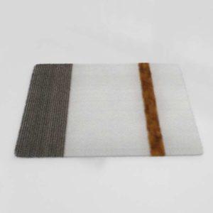 Faux Fur Stripes Throw