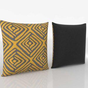 Steel Saffron Pillow Shepton Throw