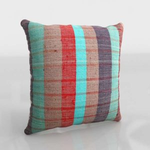 Haddon Plaid Throw Pillow Cover 0