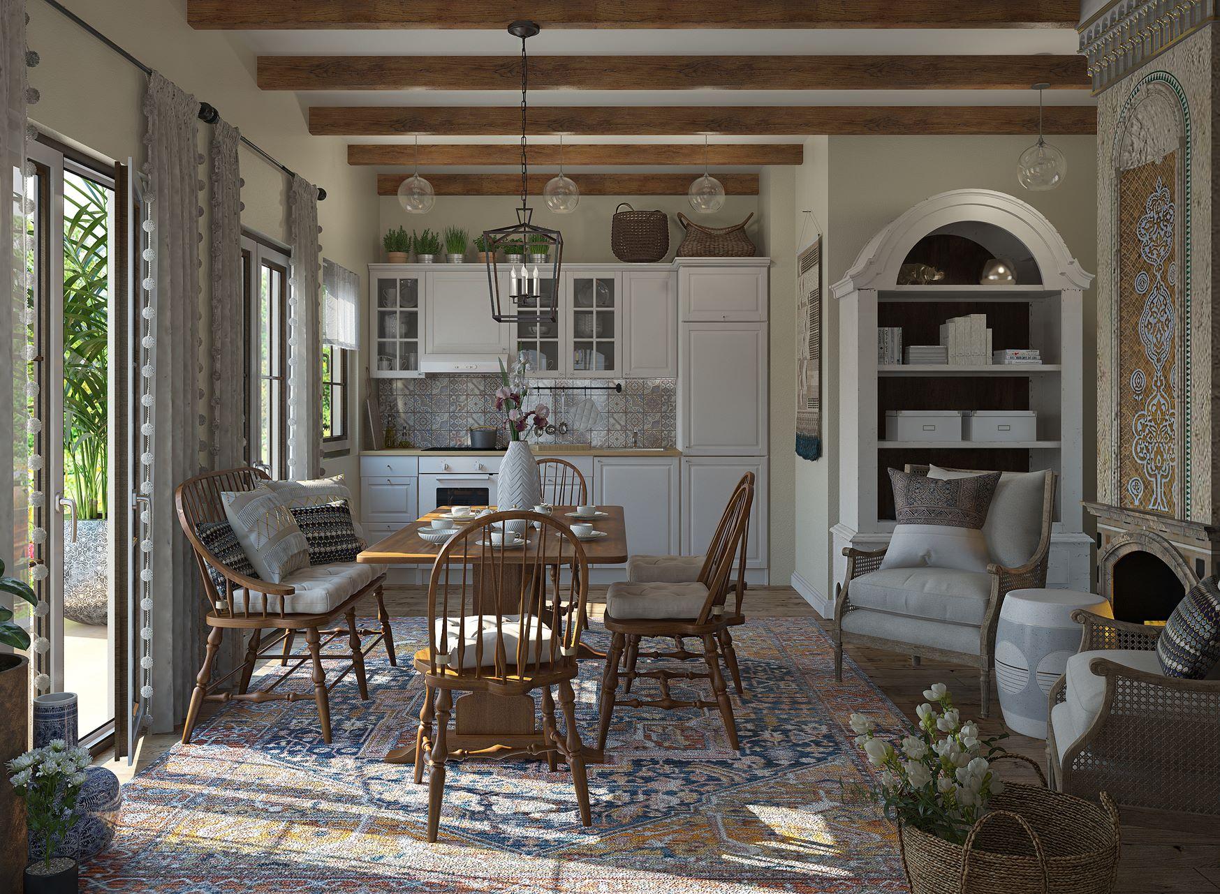 3D Design Country Kitchen