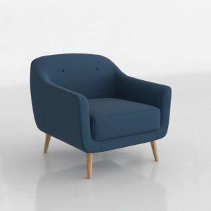 Modelo 3D Sillón Acebo Azul